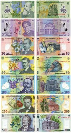 This is the page of currency images that lists the information of major currencies including currency names, codes and flags. You can click the 'currency name' to view corresponding currency images. Romanian New Leu(RON) Currency Images - FX Exchange Rate Rare Coins Worth Money, Play Money, Coin Worth, Thinking Day, Trees To Plant, Gold Money, Exchange Rate, Abundance, Garage Art