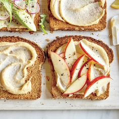 Apple and Cashew Spread Sandwich | CookingLight.com #myplate #fruit #protein