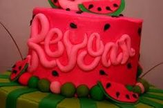 cute idea for a cake for a watermelon themed party