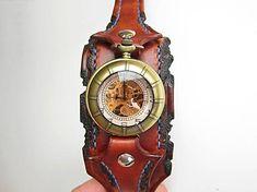 leon / Steampunk vreckové/náramkové hodinky mosadzné