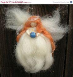 JULY SALE Wool Angel  World Angel Need Felted by von Nushkie, $32,40