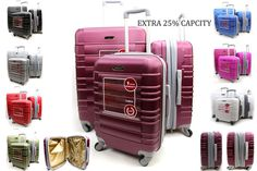Hard Shell 4 Wheel Spinner Suitcase ABS Luggage Trolley Case Cabin Expandable
