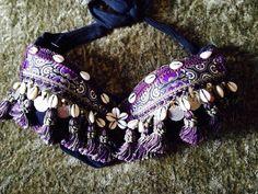 Violet et cauris Shell ATS Tribal Fusion Belly par AutumnDomoslai, $50.00