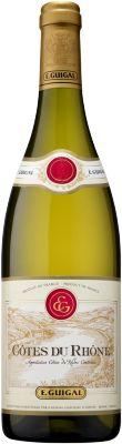 E. Guigal Côtes du Rhône White 2014; 65% Viognier, 15% Roussanne, 8% Marsanne, 8 % Clairette, 2% Bourboulenc, 2% white Grenache. All stainless fermentation.  $13 at Vin.