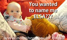 Picking a baby name for your little one is hard. #babynames #elsa #names