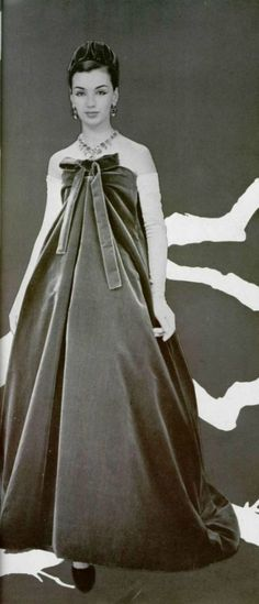 Christian Dior Evening Dress, designed by Yves Saint Laurent, 1958