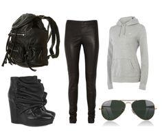 les-tenues.tumblr.com - fashion, topshop, nike, ray ban