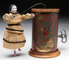 American Mechanical toy - china head doll skipping rope