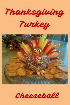 Thanksgiving Turkey Cheeseball Appetizer: Pecan Cheeseball Shaped Like a Turkey!  Logan's Little Things in Life Blog