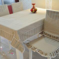 modern kısa mantianxing yemek masa örtüsü sandalye örtüsü seti gremial yastık ev kumaş(China (Mainland))