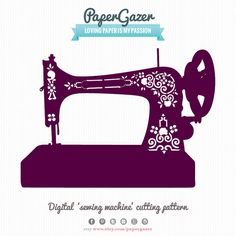 Vintage Singer Sewing Machine Digital SVG cutting by PaperGazer, $4.95