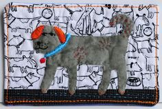 Dog Fabric Postcard by @shildskristin #fabriccard #DIY