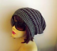Slouchy Beanie sombrero de la gorrita tejida del por DivaTrendz