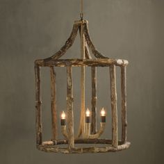 Another unique piece from BoBo. This lantern is composed of natural driftwood pieces. Because natural driftwood is used, each fixture is unique and there will be slight color variations, which lends to the fixture's beauty and makes each piece a one-of-a-kind. **NOTE: BoBo Intriguing Objects Chandeliers and Pendants are imported and DO NOT INCLUDE a canopy or chain.** Please note that items from BoBo Intriguing Objects are imported from Europe and the time it takes to receive these Intri...