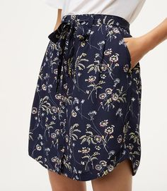 This pretty tie-waist skirt is a freshly tailored twist