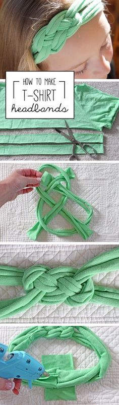 Refashion Co-op: Celtic Knot T-Shirt Headband