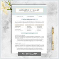 Minimalist Resume Template Modern Resume Template  Cv Template  Cover Letter  Creative .