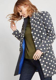 a6ff2094a1a Salient Style Wool Coat in 3X - Walker by ModCloth Grey Fashion