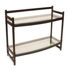 Napa Two-Tier Bronze and Glass Bathroom Wall Shelf - BedBathandBeyond.ca