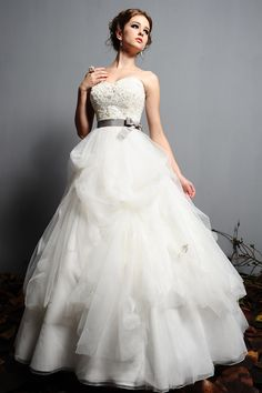 A-line/Princess Hjärtformad Organza rmlös Sweep Släp Wedding Dresses