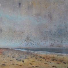 "tibo streicher - ""envol"" #tibostreicher #samagra #beach #envol #huile #artcontemporain #art #contemporaryart #landscape #sable"