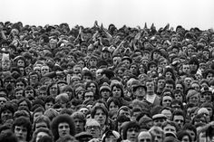 West Ham fans at Upton Park, not a woman to be seen - Tony Bock 1970s