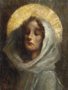 Wind in the veil, God in the veil ~~ Giovanni Battista Todeschini - - Madonna Blessed Mother Mary, Divine Mother, Blessed Virgin Mary, Religious Icons, Religious Art, La Madone, Images Of Mary, Queen Of Heaven, Holy Mary