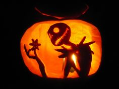 Zero pumpkin pattern - The Nightmare Before Christmas - Pumpkin ...
