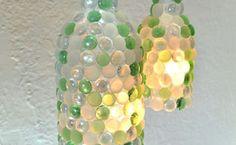 Lâmpadas garrafa de vinho seixo de vidro do ofício, diy, decoração, iluminação, upcycling repurposing