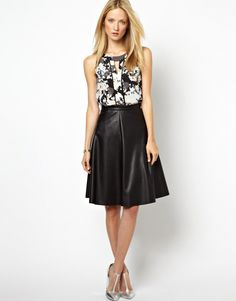 Whistles | Midi leather skirt | $160