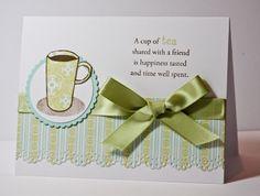 cup of tea scrap card