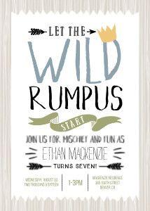 Wild Rumpus #WhereTheWildThingsAre inspired!