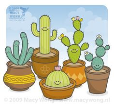 Kawaii cacti! to make in clay