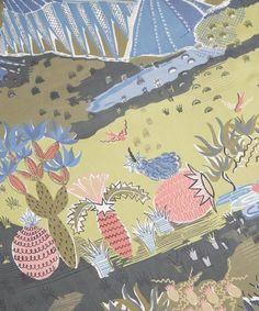 Landscape Scene Silk Chiffon Scarf