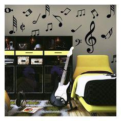 """Buscas una pegatina, adhesivo, sticker o vinilo decorativo con un kit de notas musicales ?. En Vinilos Casa ® te proponemos este """"Vinilo decorativo kit notas musicales"""", con el que podrás decorar paredes, decorar cristales, decorar puertas."""