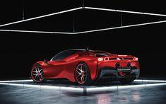 Ferrari SF90 Stradale | Full CGI on Behance Maxon Cinema 4d, Automotive Design, Cgi, Ferrari, Behance