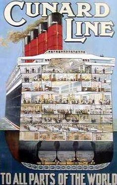1920s Cunard Poster