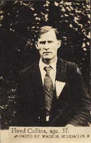 Floyd Collins -- Full Name: William Floyd Collins (July 1887 – c. February was a celebrated pioneer cave explorer in central Kentucky. Collins discovered Crystal Cave and died after being trapped in a sand cave. Born in Aburn, KY Famous Haunted Houses, Most Haunted, Haunted Places, Floyd Collins, Cave City, Mysterious Universe, Mammoth Cave, My Old Kentucky Home, Ghost Stories