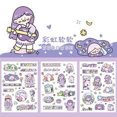 Cute Kawaii Drawings, Cute Animal Drawings, Kawaii Art, Anime Stickers, Kawaii Stickers, Cute Stickers, Journal Stickers, Scrapbook Stickers, Sticker Shop