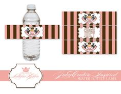 shower theme, may be added to baby bottles.