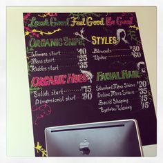 Chalk art - My Hair Trip Salon Denver - Salon Denver - hair salon - denverstyle - eco-friendly hair salon in Denver, CO.