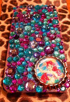 Little mermaid bling iPhone 4 case. $25.00, via Etsy.