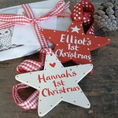 personalised baby's first christmas star by moobaacluck | notonthehighstreet.com