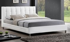 Contemporary Upholstered Platform Beds. Multiple Styles and Sizes Available from $299.99–$409.99.