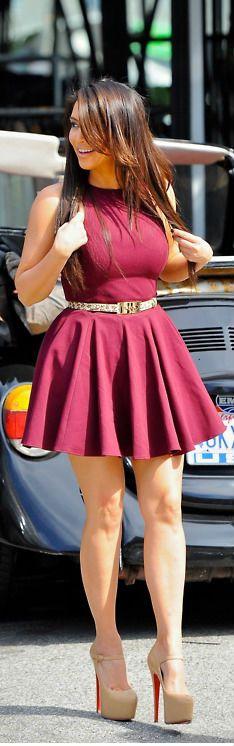 Kim Kardashian Pink Dress