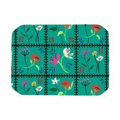 "DLKG Design ""Simple Garden Tiles"" Floral Coral Place Mat"