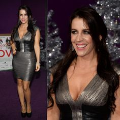 Pattie Mallette Colorblock Printed Bandage Dress http://www.celebdressy.com/Pattie-Mallette-was-one-hot-babe-in-her-silver-and-black-bandage-dress-during-the-premiere-of-Justin-Bieber's-Believe