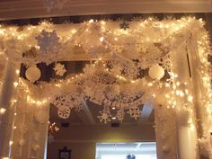 The snowflake display I showed you yesterday was based on a project my kids and I work on every year at home - sparked by the movie Elf . ...