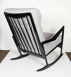 Jeremiah Fabric Back Rocking Chair Crate And Barrel