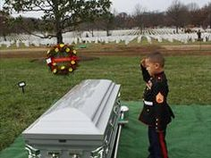 Rochester, N.- Staff Sergeant Javier Ortiz-Rivera called his boys his little Marines. Wearing tiny Marine uniforms made especially for them, they saluted their father as he was laid to rest at Arlington National Cemetery. Usmc, Marines, Foto Fun, My Champion, Staff Sergeant, Home Of The Brave, Support Our Troops, Family Support, Emotion